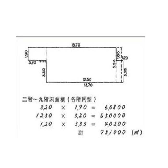 栄3 ゴードン栄ビル 平面図