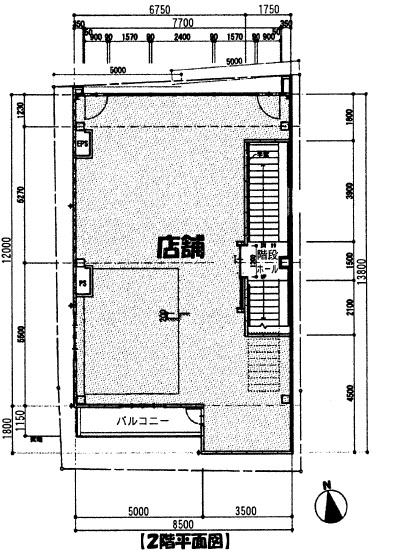 大須仁王門フロント2階平面図