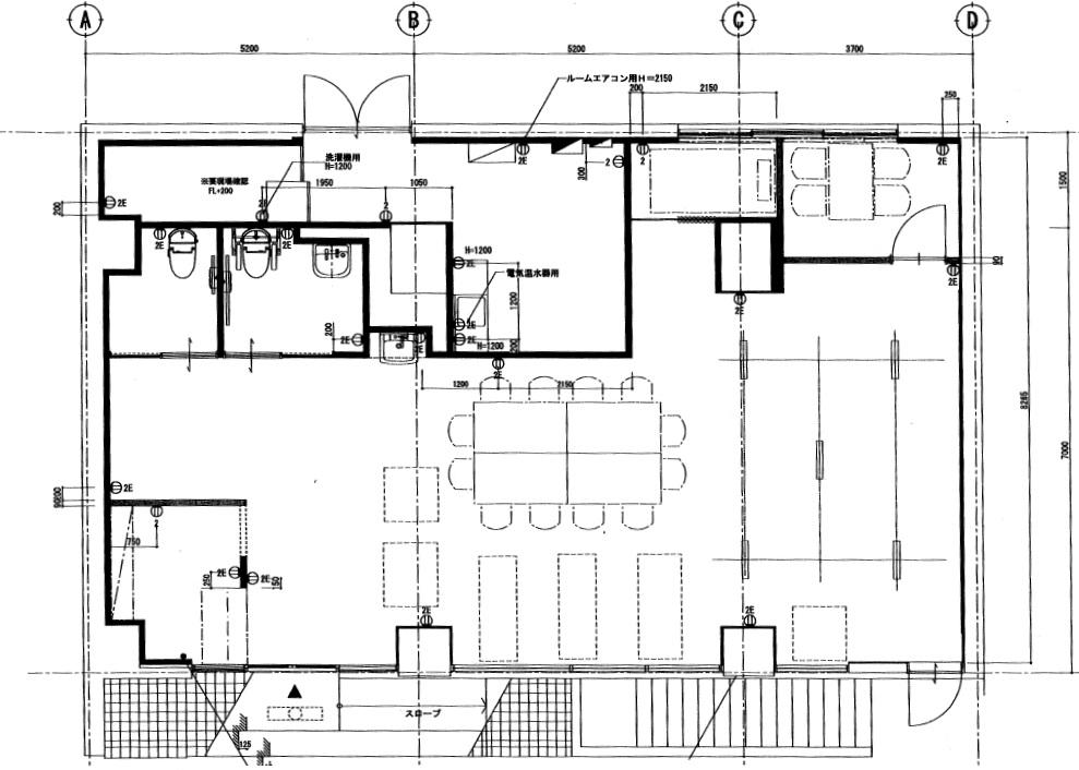 新前津ビル1階平面図