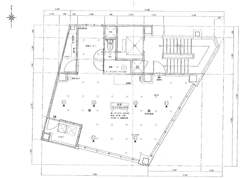 名駅2 名駅マークビル 平面図