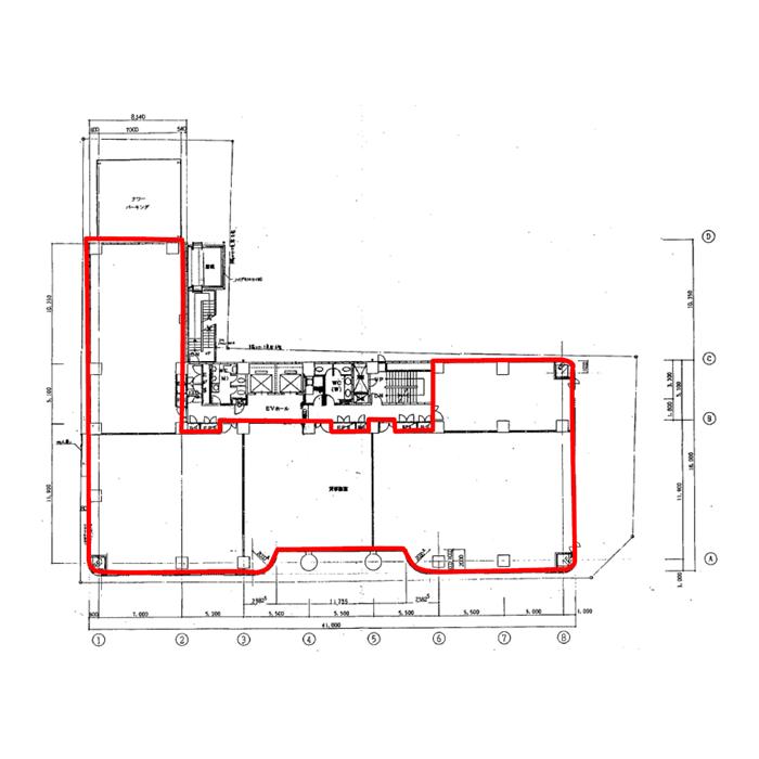 栄3 栄センタービル 平面図
