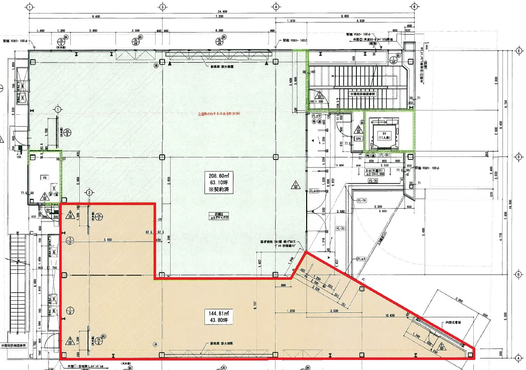 DIS御器所ビル 2階平面図