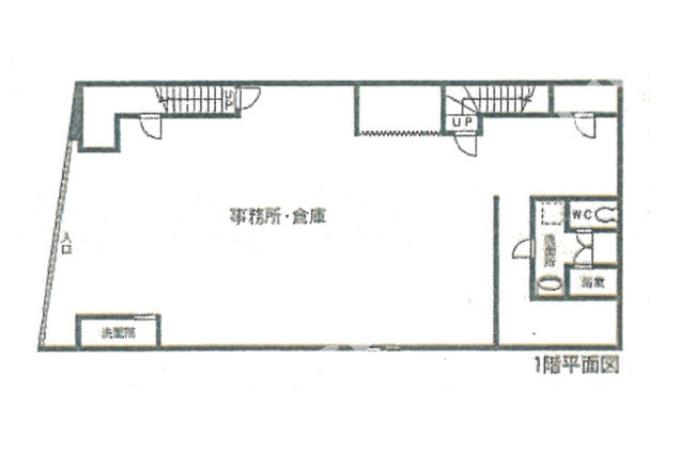 丸銭鶴舞ビル 1階図面