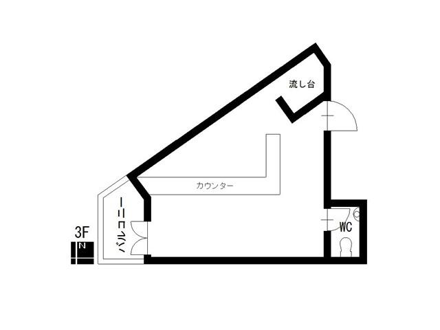 クレスト徳川ビル3階西間取り図