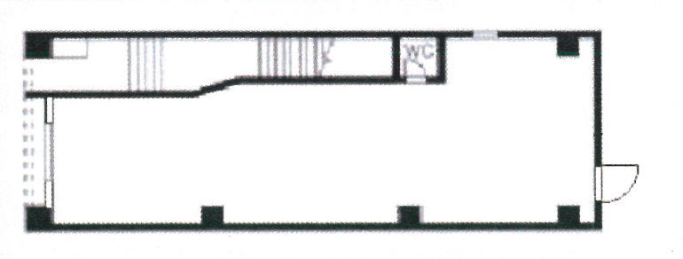 那古野2 メゾンなごの808 1階平面図
